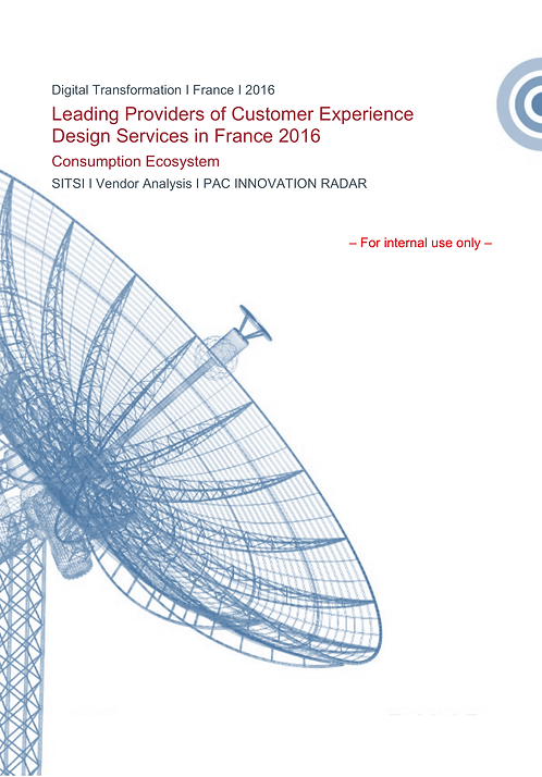 Leading Providers Customer Experience Design Services Fr 2016 Consumption Ecosys