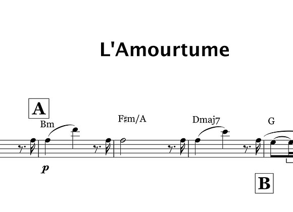 L'amourtume - la version mélodie et accord