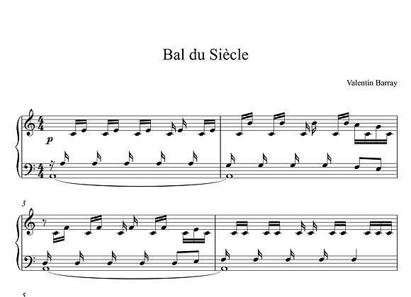 Bal du Siècle- La partition originale