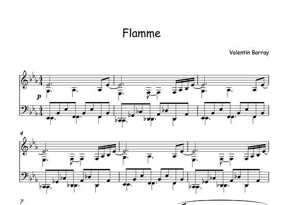 Flamme - La partition originale pour piano