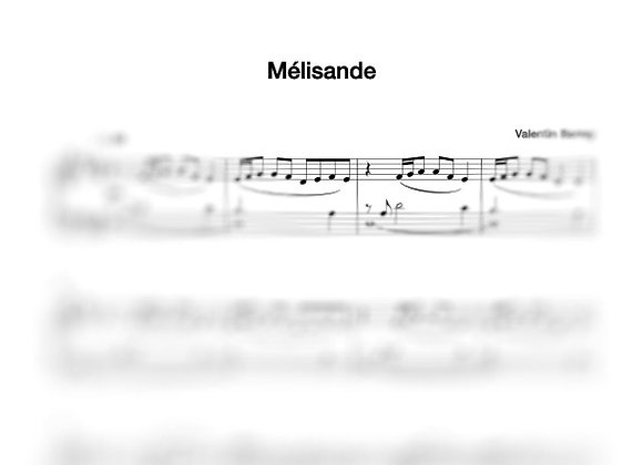Mélisande - la partition originale pour piano