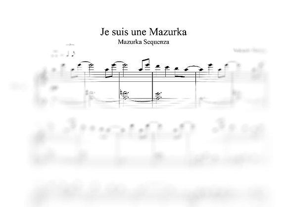Je suis une Mazurka : La partition originale