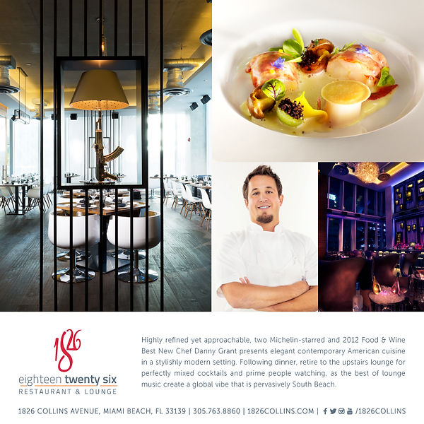 Advertising campaign restaurant and lounge Miami Beach, hospitality marketing, branding, advertising, public relations, media planning, graphic design agency Miami, Fl Michelin Star Chef