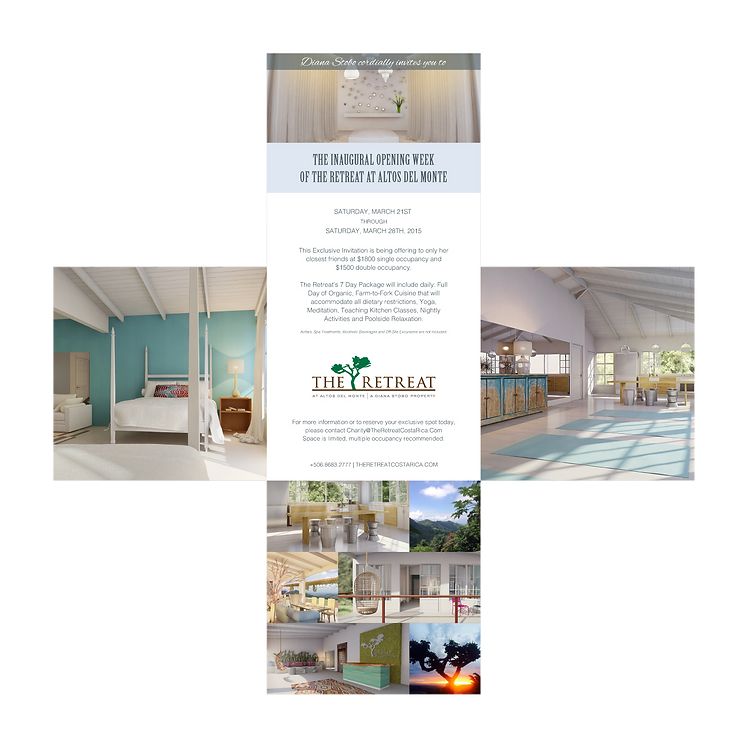 The Retreat Costa Rica branding advertising hotel hospitality marketing graphic design agency