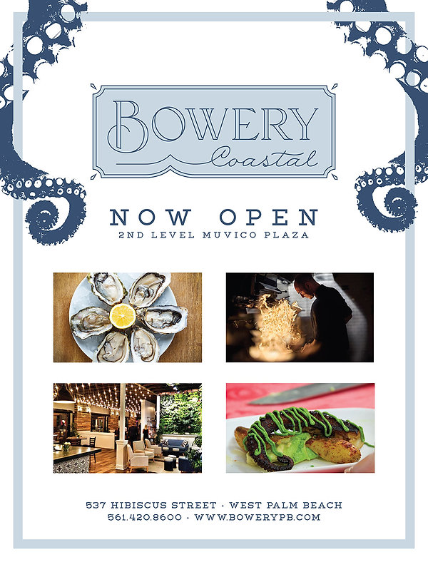 Hibiscus street west palm beach restaurant bowery coastal and bowery live. Advertising campaign, media planning, branding, marketing, graphic design miami fl
