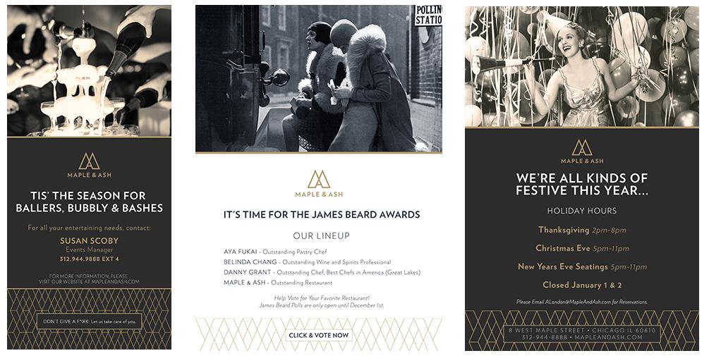 Advertising, branding, graphic design agency Maple & Ash Chicago brandin agency, Maple & Ash Chicago graphic design agency, Chef Danny Grant, James Beard Awards Graphic Design Branding