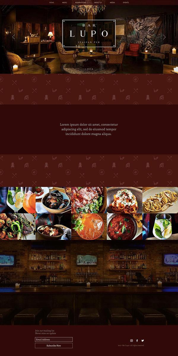 Bar Lupo Chicago branding, graphic design, website design, website devlopment, branding agency