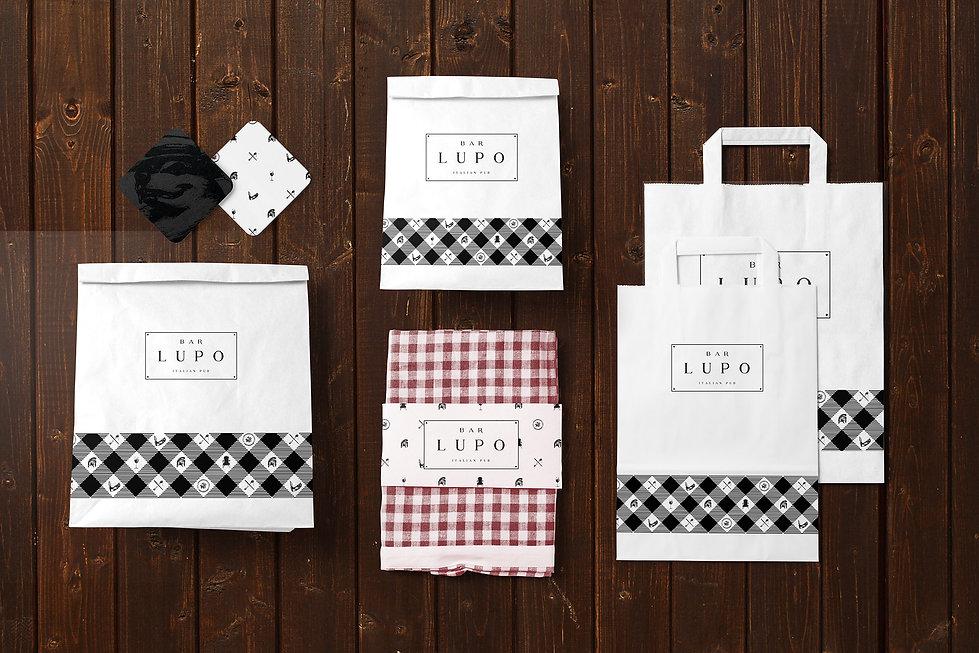 Bar Lupo Chicago packaging design, branding, hospitality branding, restaurant branding, graphic design, branding agency Chicago, IL