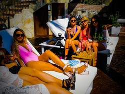 despedida soltera Malibu beach bar