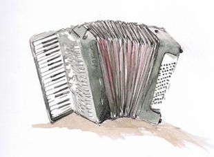 Iris Males accordion tuition / lessons in Winchester Hampshire