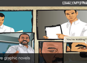 Interactive graphic novels