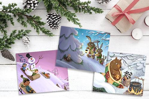 Set of Three Christmas Prints (4 Combos)