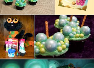 Backwards Bubbly Cauldron Cupcakes