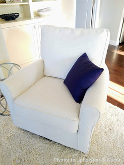 club chair slipcover Fabricut zonolite