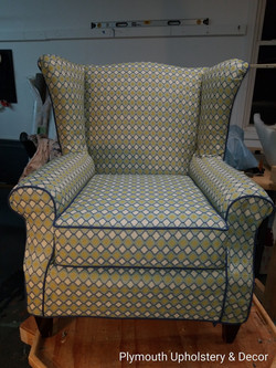 wing back chair slipcover Trend fabric