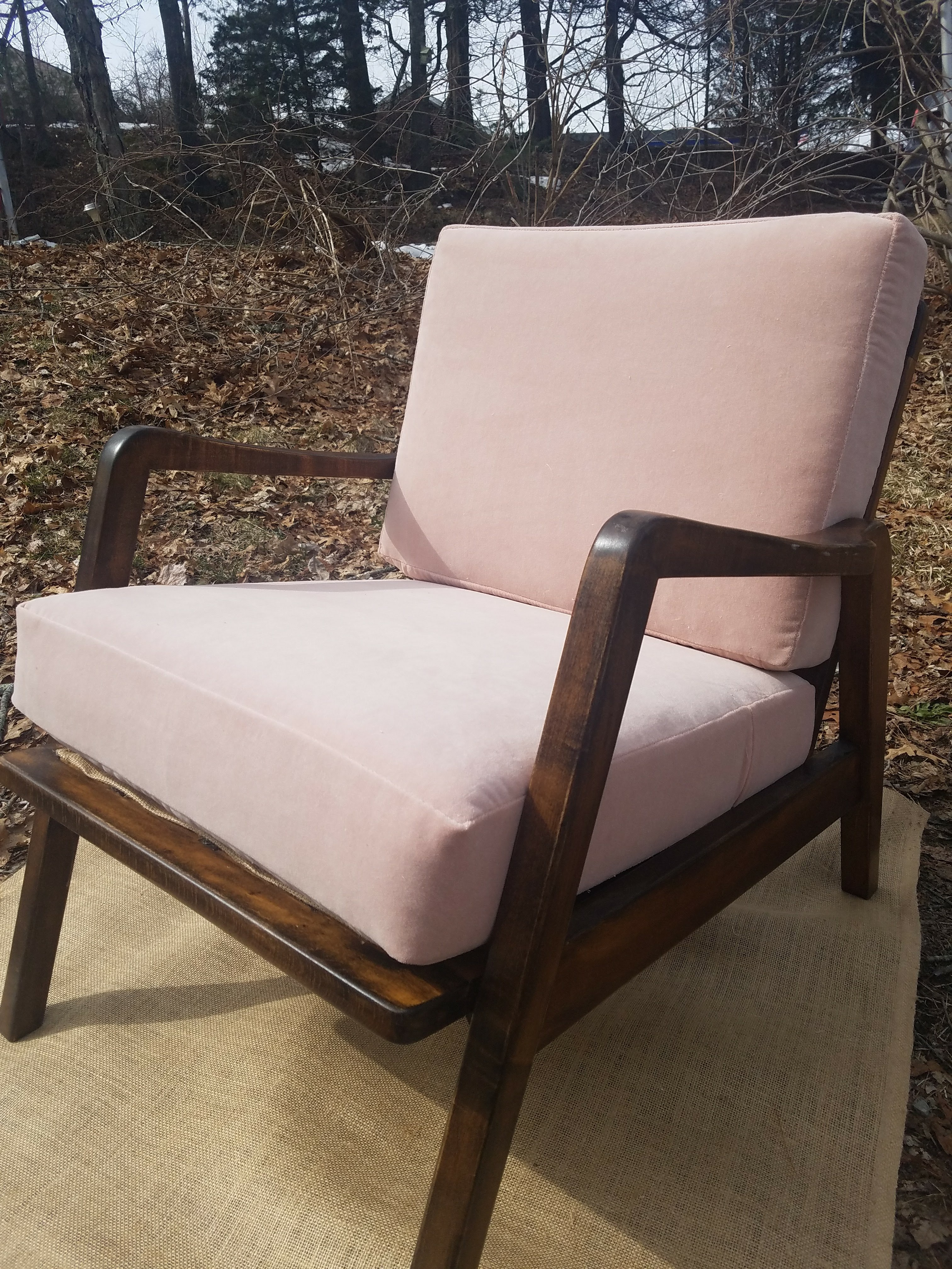 mid century chair maxwell velvet