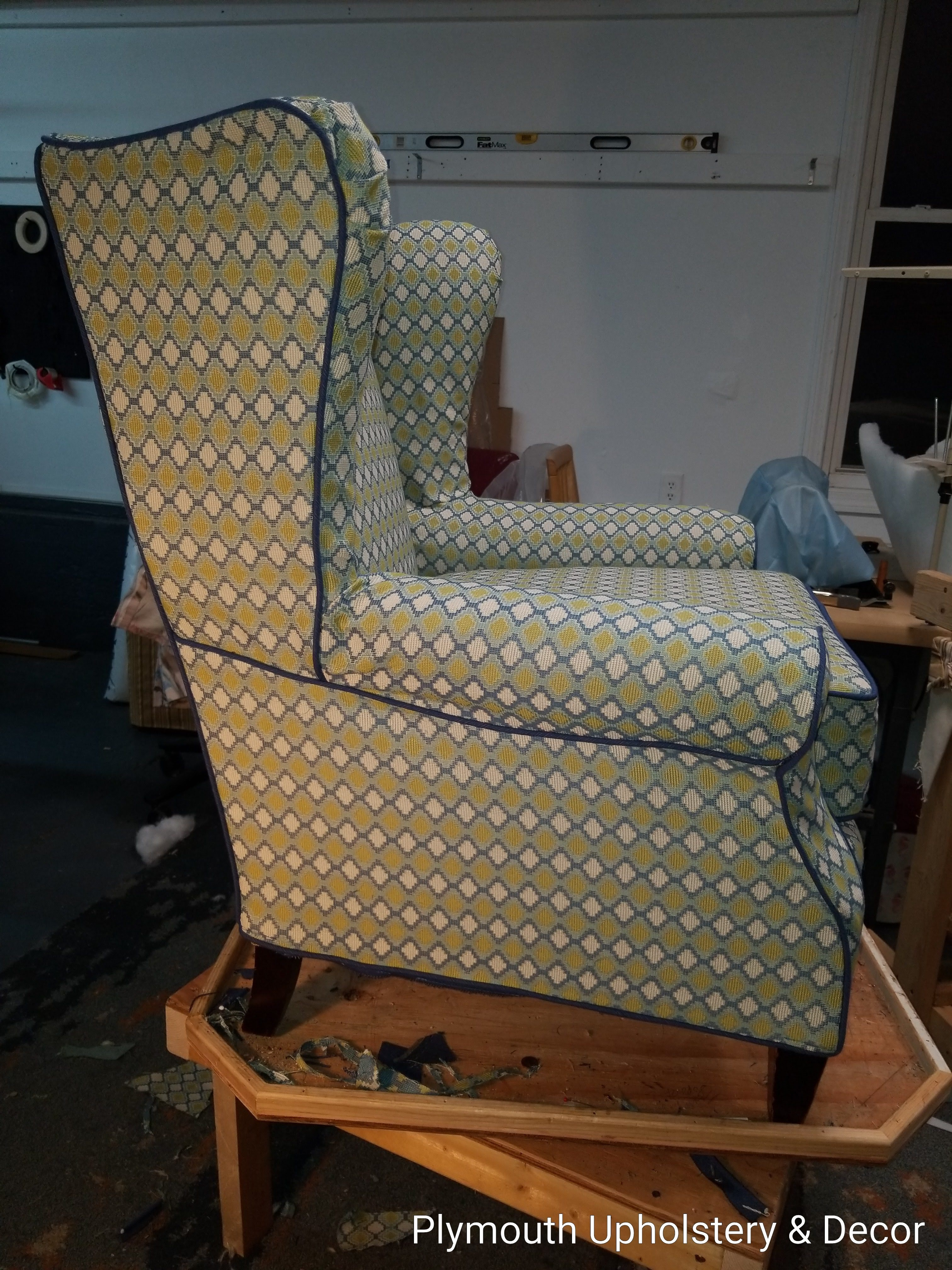 wing back chair slipcover trend fabric2.