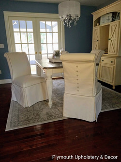 parsons chairs slipcovers cottage kitche