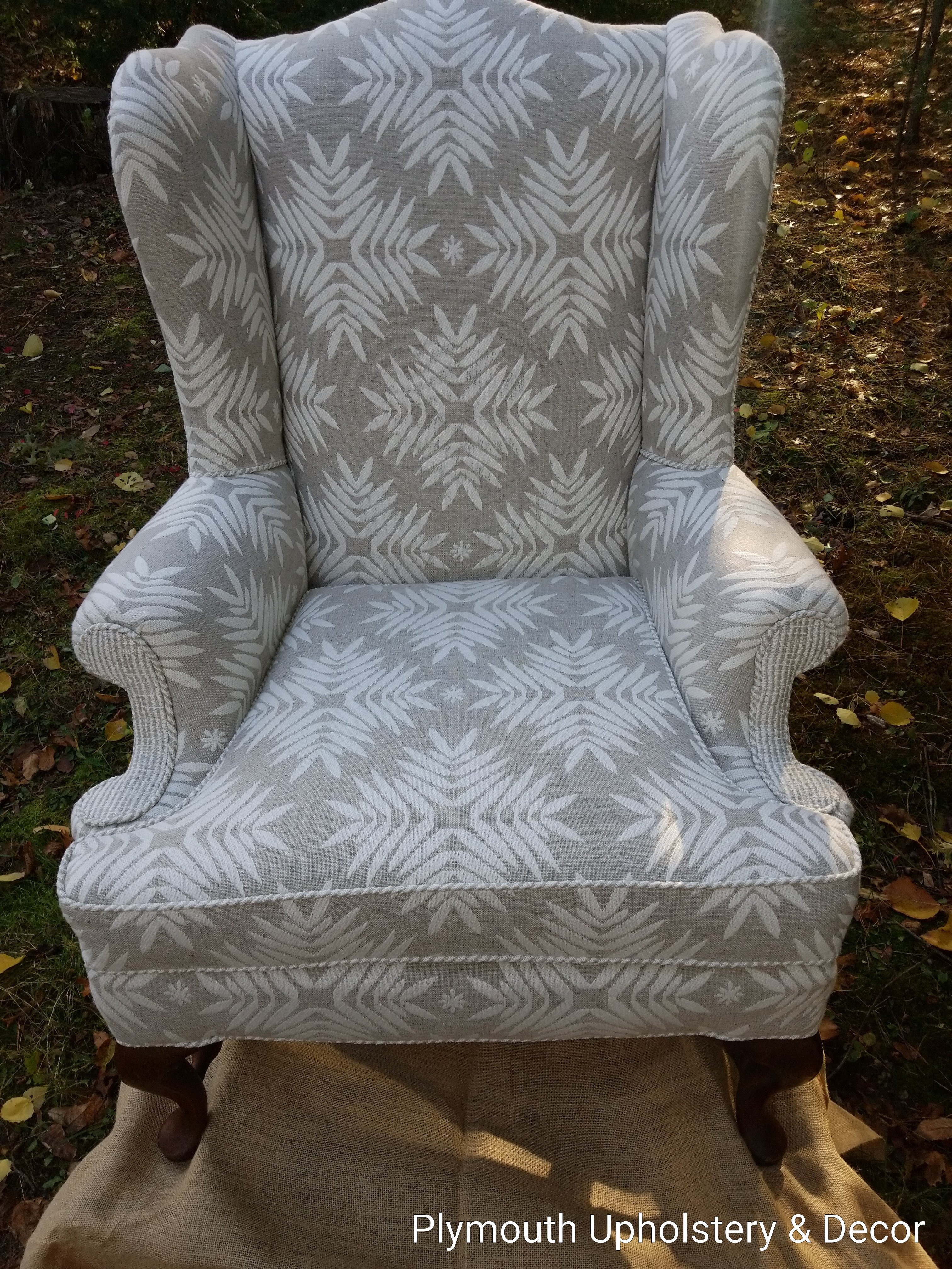 Wing back Lonni Paul Crypton fabric