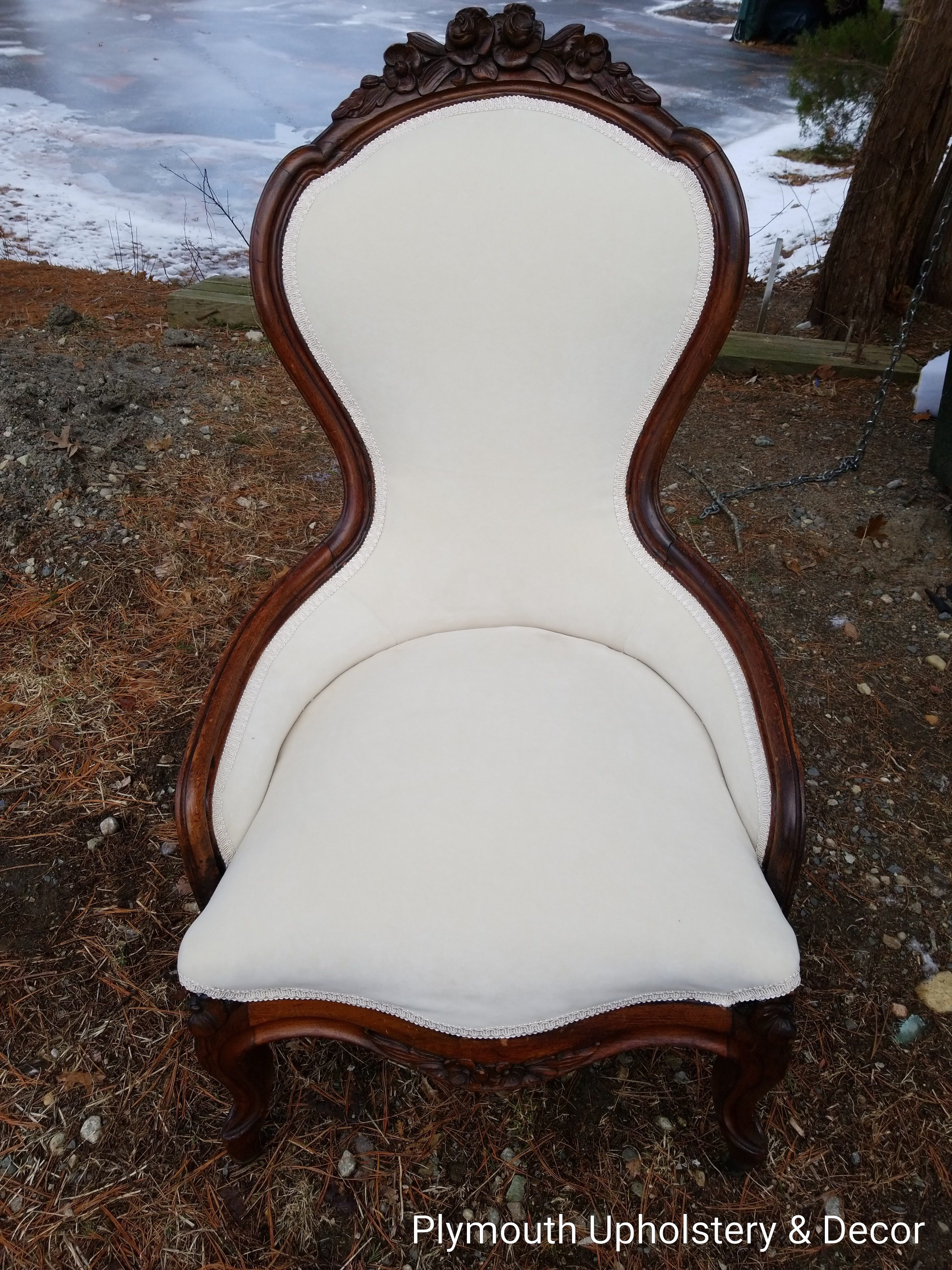 antique chair maxwell velvet