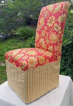 Parsons Chair slipcover with skirt
