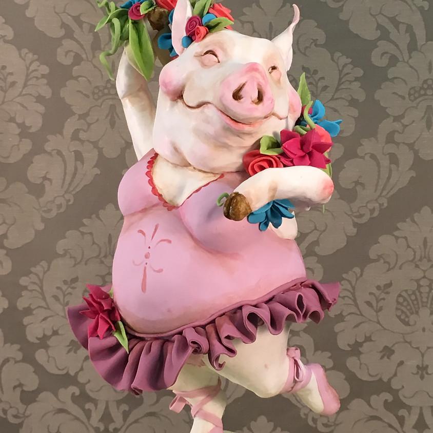 KAREN PORTALEO - SOUTH WALES - BALLERINA PIG