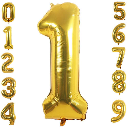 34 inch Gold Number