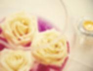 fleur rose bougie avec vase liquide rose décoration mariage nice