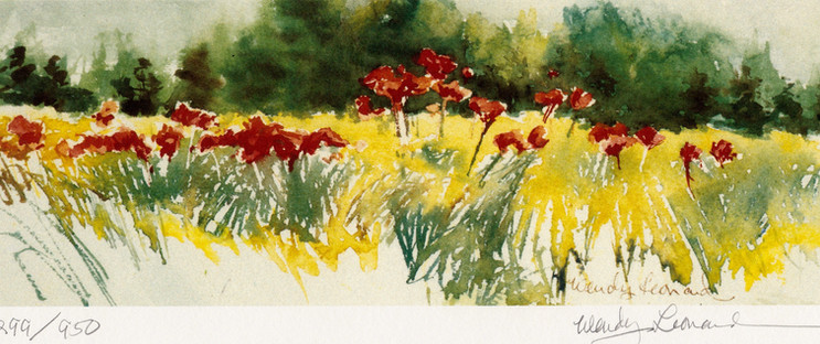 Wheat And Poppies: Straight Ahead