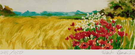 Wheat And Poppies: Right View