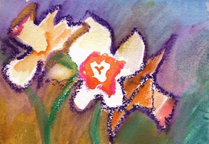 Three Daffodills