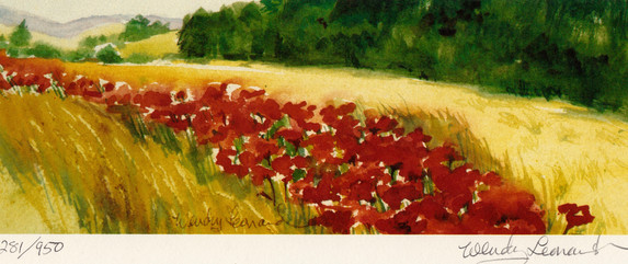 Wheat And Poppies: Left View