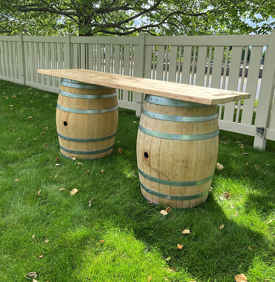7' Wine Barrel Table/Counter