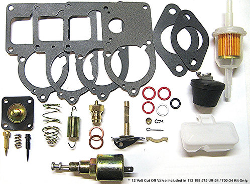 700-34 Solex Rebuild Kit with 12V Cut Off Valve