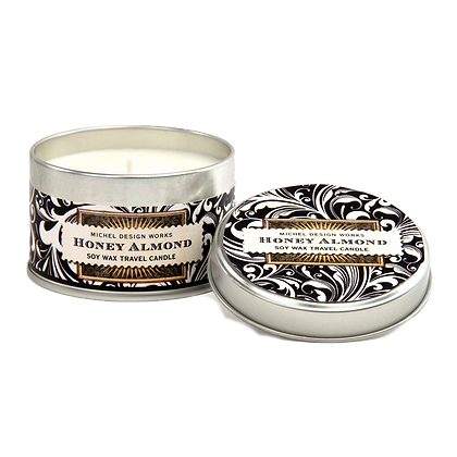 Honey Almond Travel Tin Candle (20hr burn)