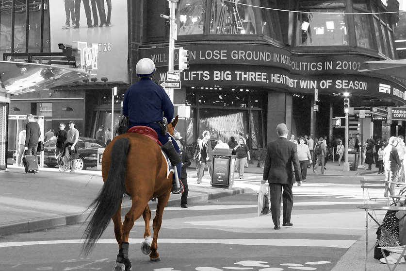 Policeman on a horse