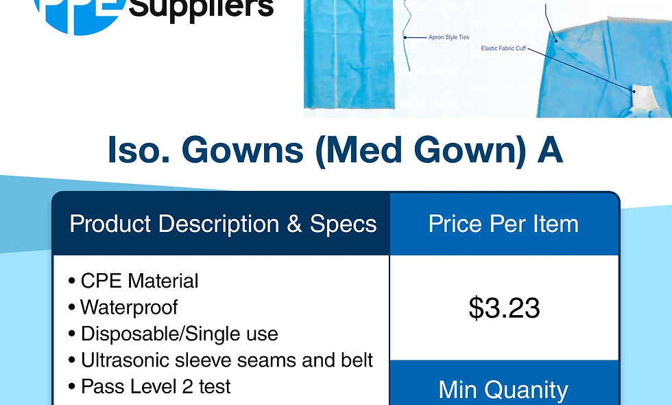 Iso. Gown (Med Gown) A