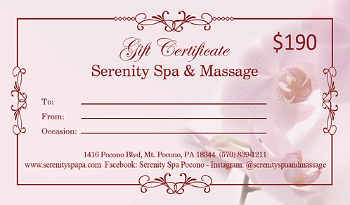 $190 Gift Certificate