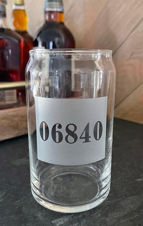 06840 Soda / Beer Can Cooler Glass