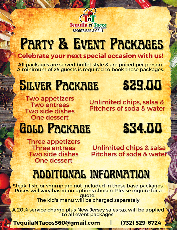 Banquet  Party Event Packages - 2021 .pn