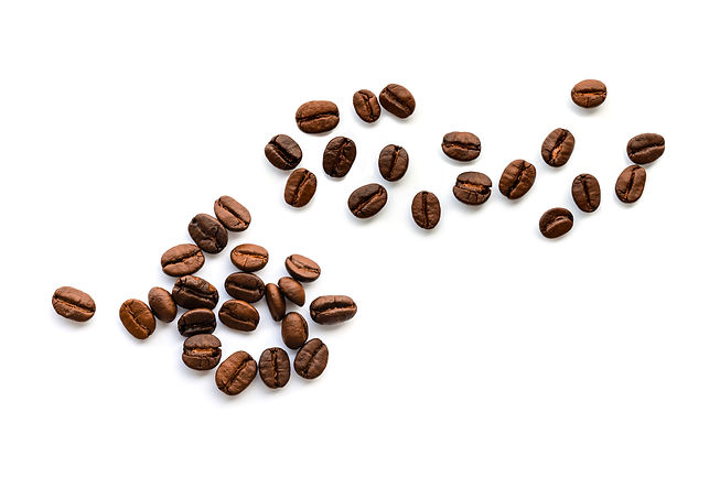 Coffee beans. Isolated on a white backgr