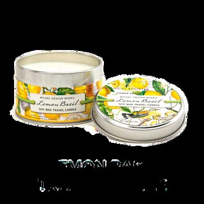 Lemon Basil Travel Tin Candle (20hr burn)
