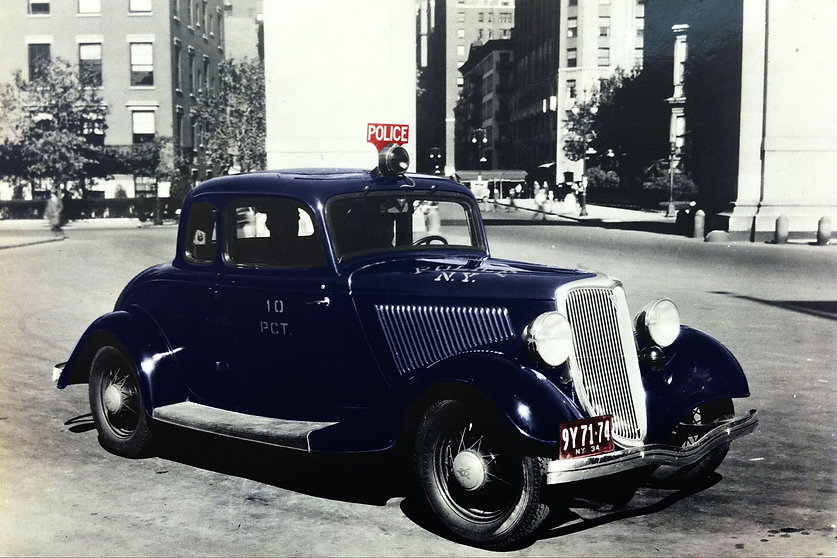 Historical photo of police car from Precinct 10
