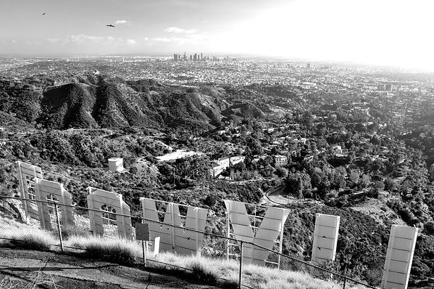 Los Angeles Downtown view from Hollywood