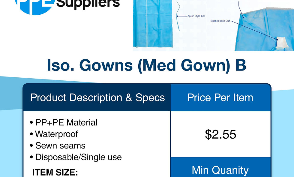 Iso. Gown (Med Gown) B