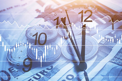 time is money concept, business and fina