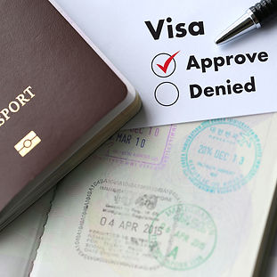 Visa and passport to  approved stamped o