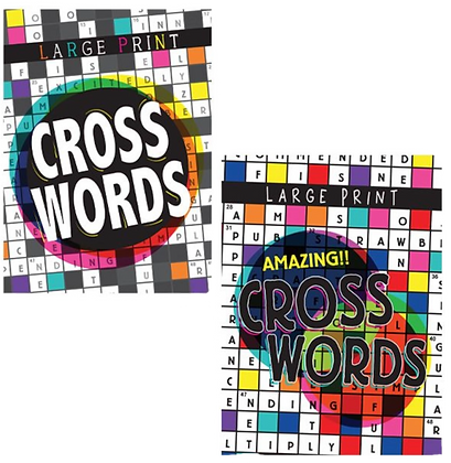 Crossword Puzzle Book Large Print (each)