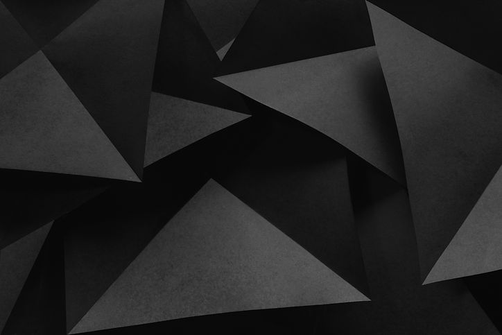 Composition with black geometric shapes,