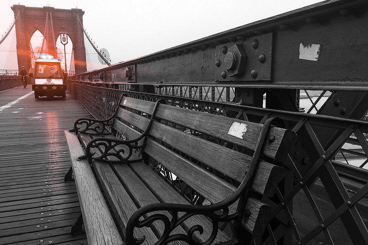 NYPD Traffic cart on bridge